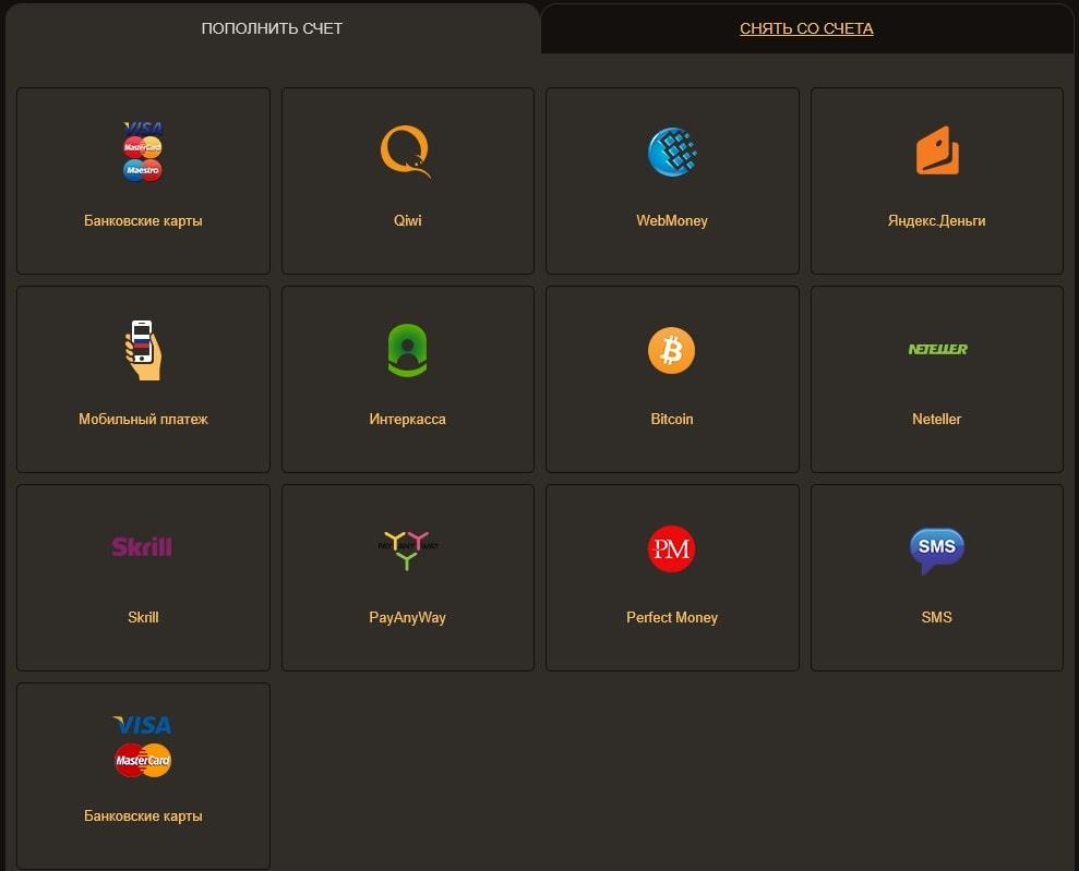 Платежи в онлайн казино